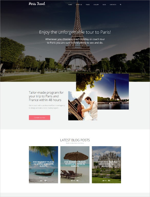 travel joomla blogger template