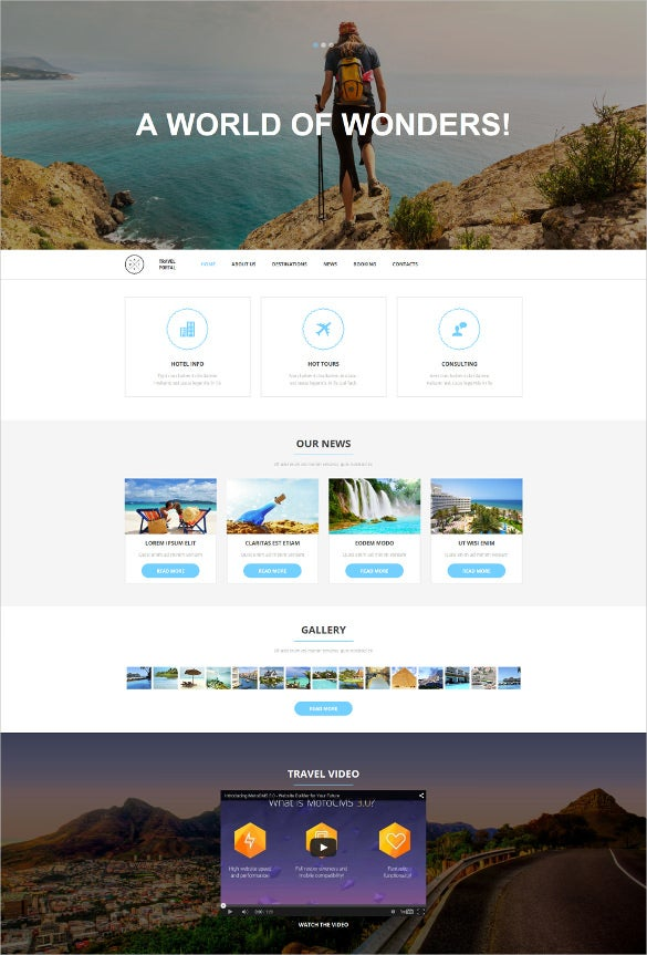 travel responsive moto cms 3 blogger template