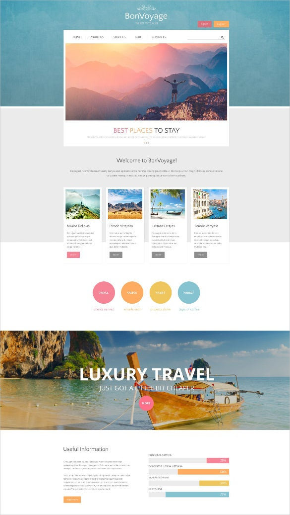 travel tourism blogger drupal template
