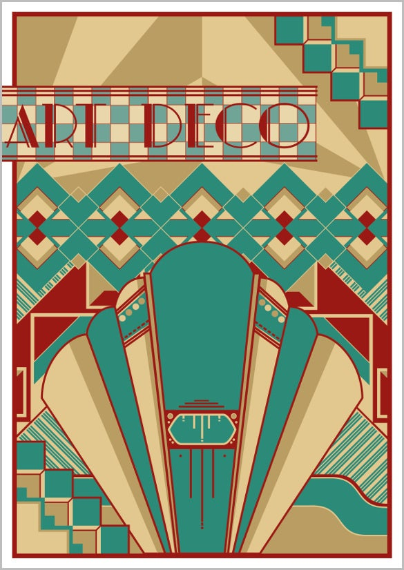 free awesome art deco painitng for wall