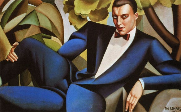 tamara business man art deco painting