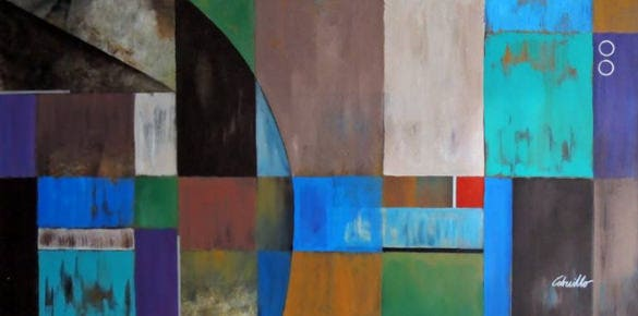 geometrik art deco painting download
