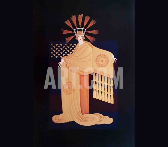 download tassel gown art deco painting
