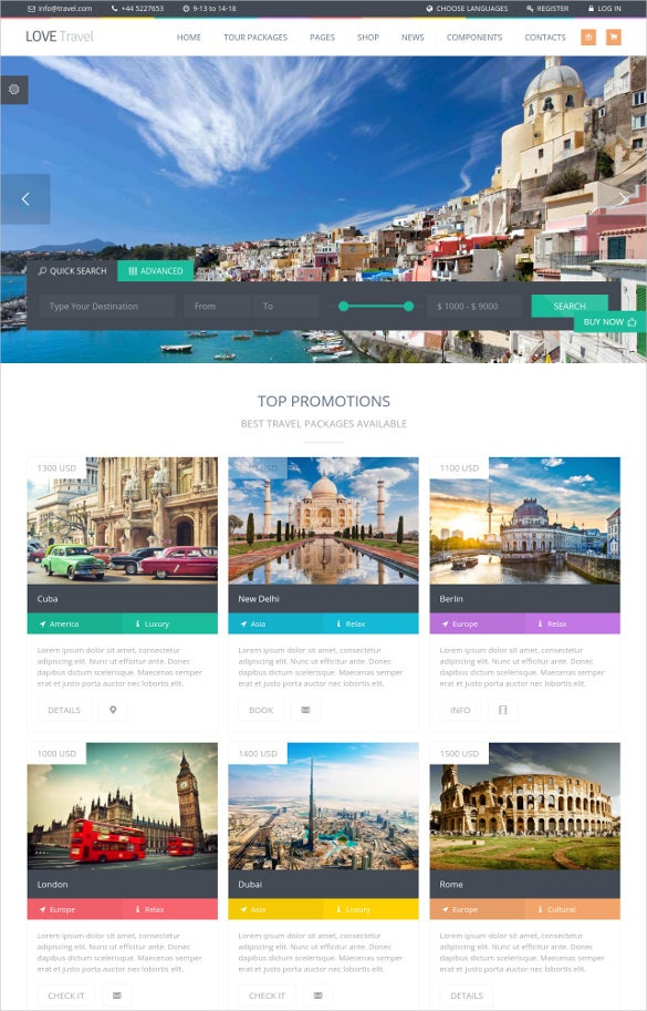 creative travel agency wordpress template3
