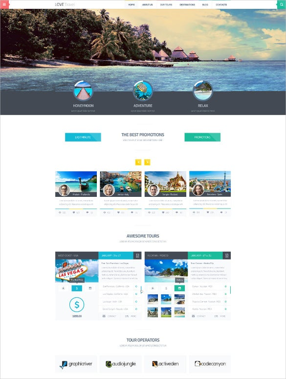 creative travel tourism agency blogger theme