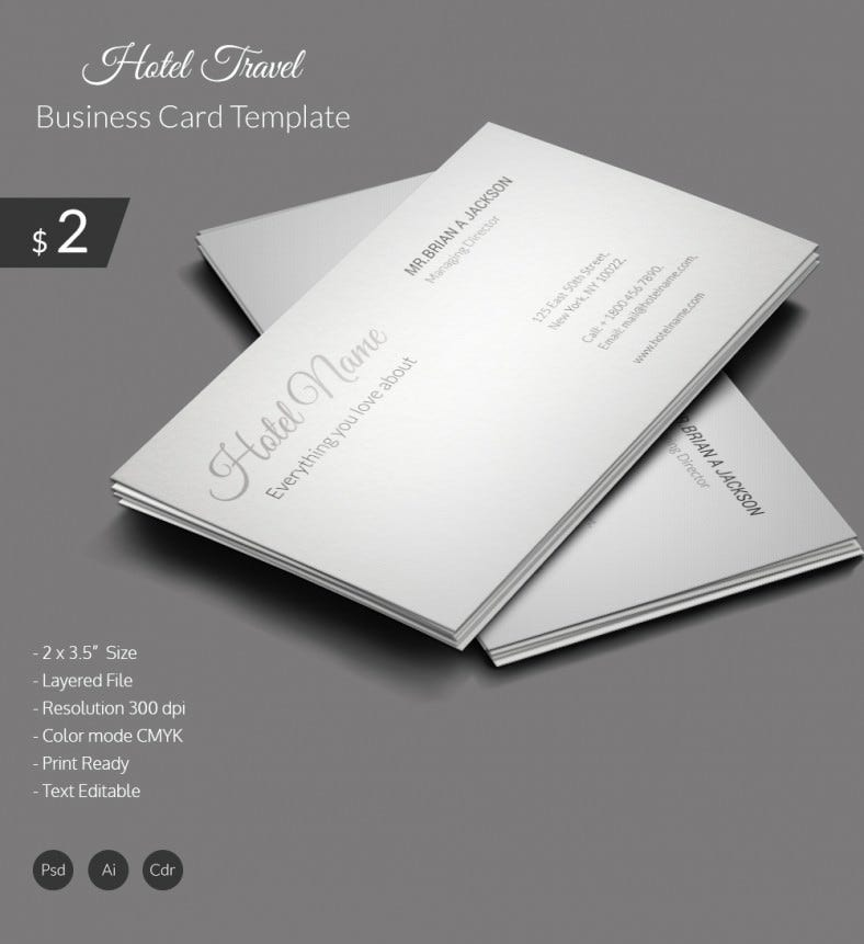 Hotel & Travel Business Card Template | Free & Premium Templates