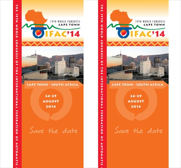 save the date bookmark pdf template