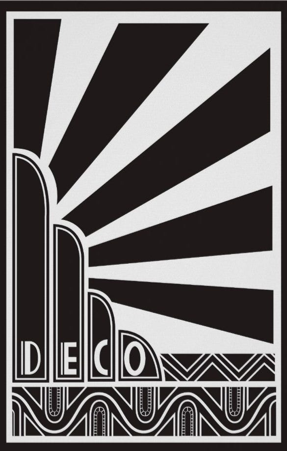 art deco poster best design download
