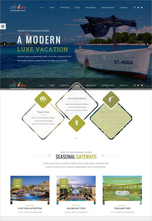 travel tour multipurpose wp blogger theme