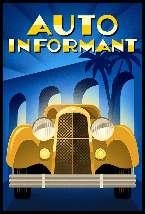 branding for vehicles art deco poster for free