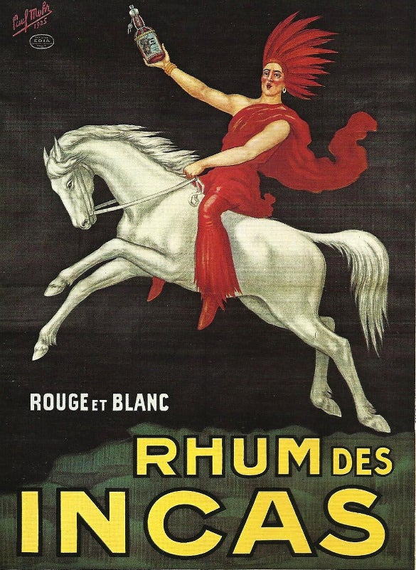 rhum de incas french advertising deco poster