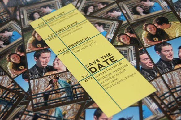 print ready save the date bookmark template