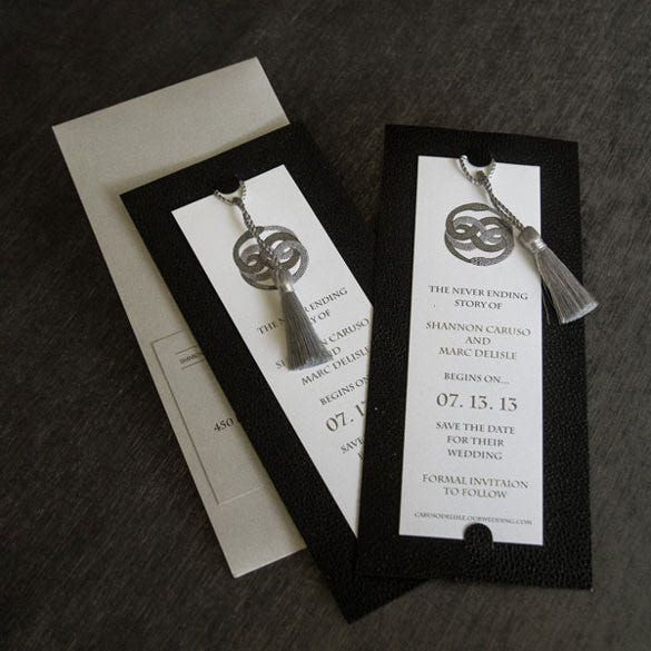 attractive save the date bookmark template