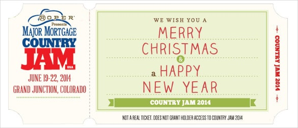 country jam ticket voucher template download
