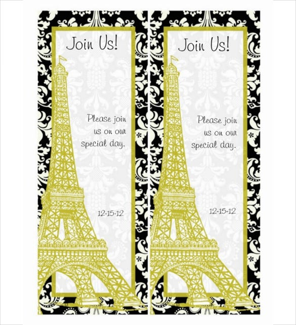 multipurpose save the date bookmark template