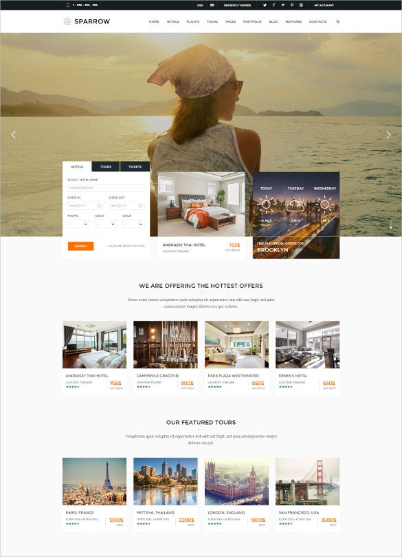 responsive travel online booking blogger template