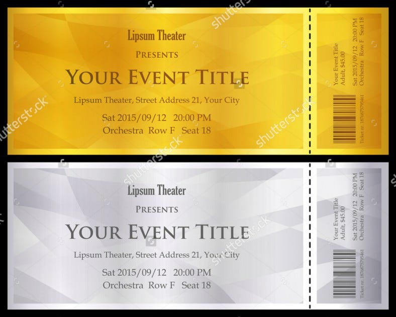 Ticket voucher template 11 free psd eps format for Concert ticket template free download