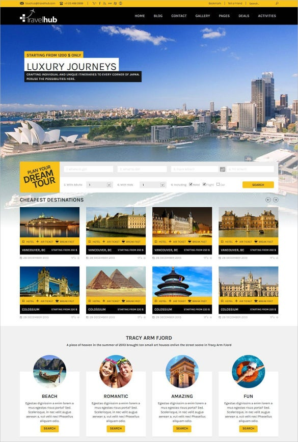 travel touring packages html blogger template