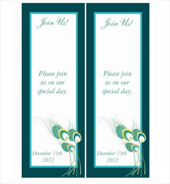 decent save the date bookmark template download