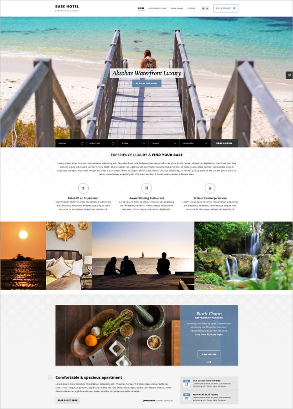 best travel hotel blogger template