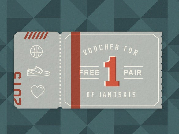 25  ticket voucher templates