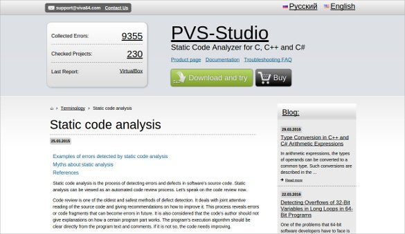 pvs studio static code analyzer for c c and c