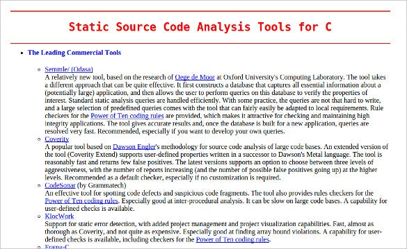 18+ Best Static Analysis Tools & Softwares | Free & Premium