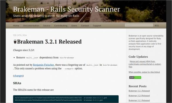 brakeman scanner static analysis security tool