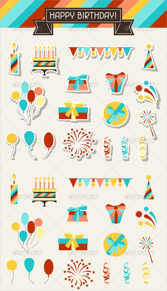 collection birthday banner template