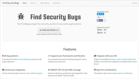 find security bugs tool
