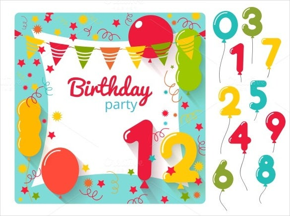 baby sample birthday banner template