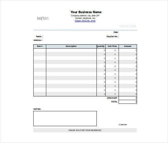 voucher of cash template download