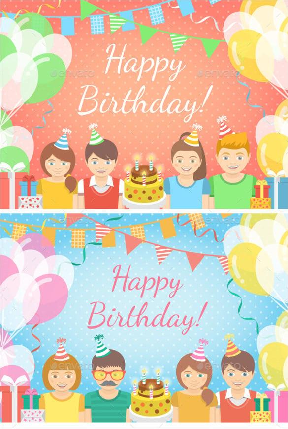 designed sample birthday banner template