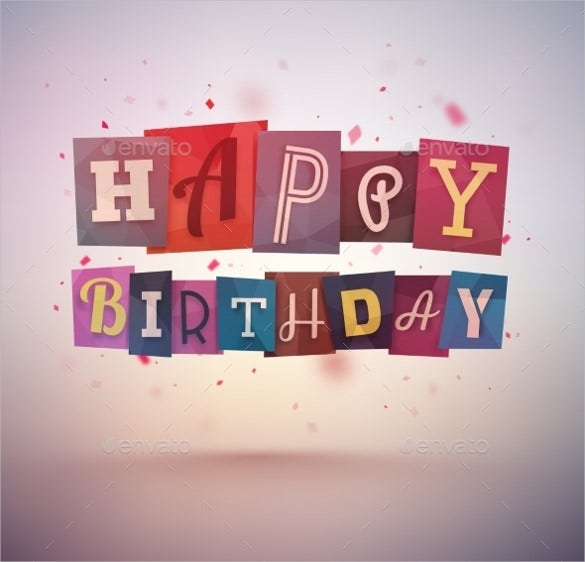 abstract sample birthday banner template