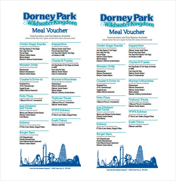 meal voucher free pdf template download