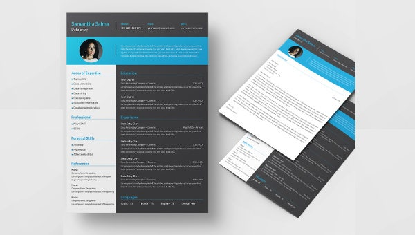dataentry_resume template