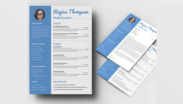 dentalassistant_resume template