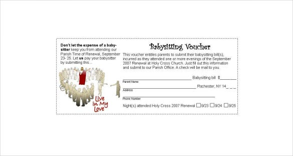 holy babysitting voucher download