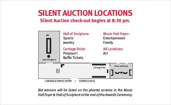 silent auction program pdf format template