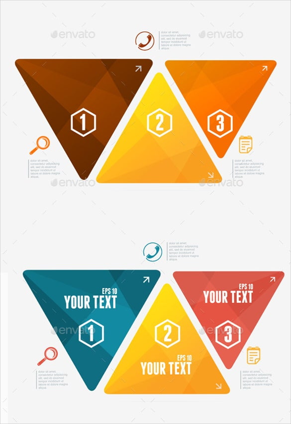 modern triangle sample banner template