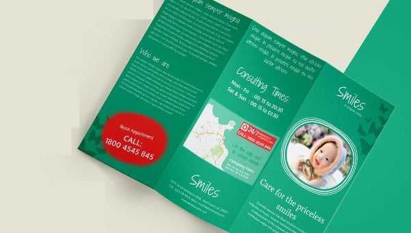 childrenclinic_a3trifold_brochure template
