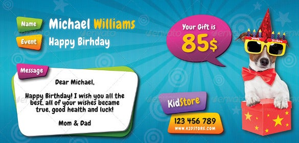 kids birthday gift voucher template download