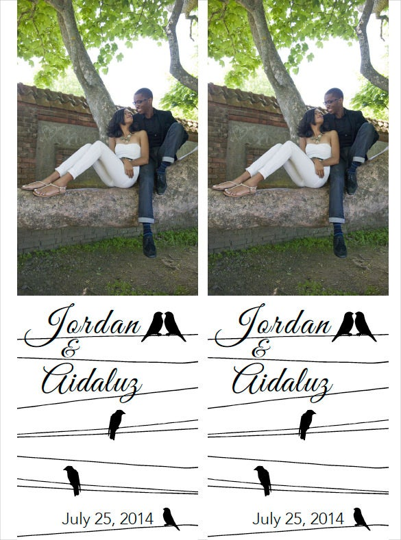 weeding bookmark template with images