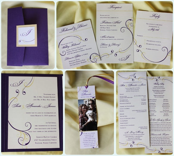 weeding bookmark templates free download