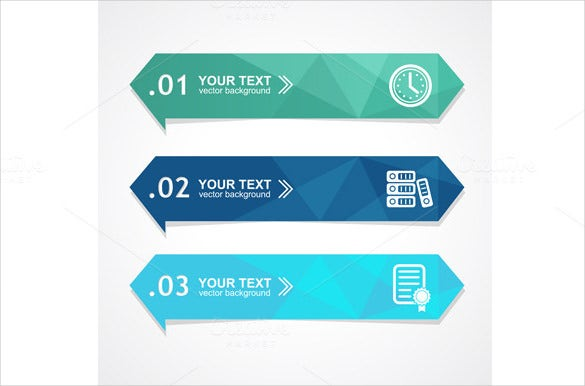 business sample triangle banner template