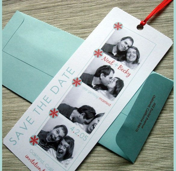 weeding bookmark template with detilas