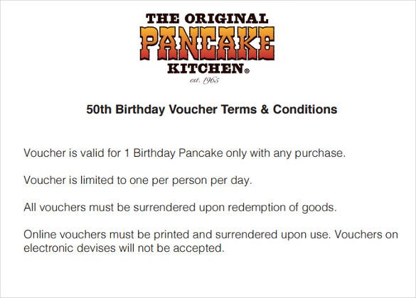 birthday voucher terms conditions download