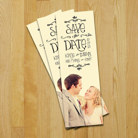 colorful wedding bookmark template
