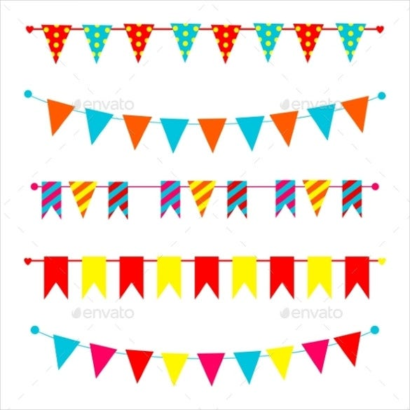 blowing sample triangle banner template