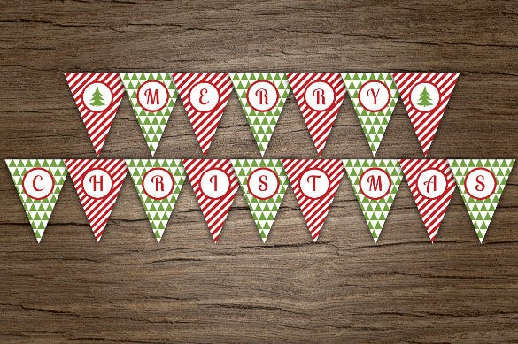 christmas sample triangle banner template